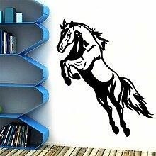 LOIUYT Retro Voltigierpferd Selbstklebende Vinyl