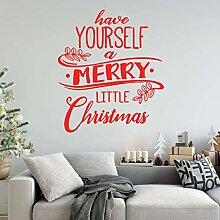 LOIUYT Zitat Frohe Weihnachten Vinyl