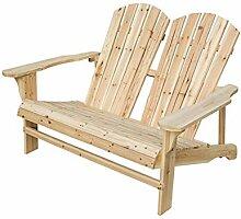 LOKATSE HOME Adirondack Doppelstuhl, Holz,