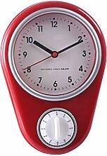 LoKauf Lautlos Wanduhr Küche mit Alarm Timer Uhr