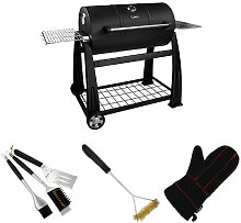 Lokkii Perfection Full Barrel Holzkohle Grill,