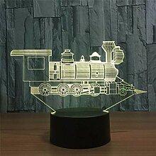 Lokomotive Alter Zug 3D Visual Illusion Lampe