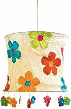Lokta Lampenschirm Blumen natur