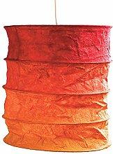 Lokta Lampenschirm Nevada rot/orange