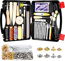 Lokunn 128-teiliges Leder-Werkzeug-Set,