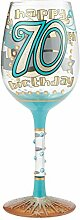 Lolita 70th Birthday Weinglas, Glas, Mehrfarbig, 8.5 x 8.5 x 22.5 cm
