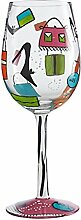 Lolita GLS11–5530y Glas Shopaholic Too Standard Weinglas Mehrfarbig 22,5cm