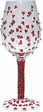 Lolita Weinglas mit Herzverzierung