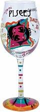 Lolita Weinglas mit Sternzeichenmotiv, Fische