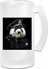 Lollypop COP Panda Milchglasbecher Glas,