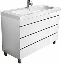 Lomado Badezimmer Waschtisch mit 120 cm