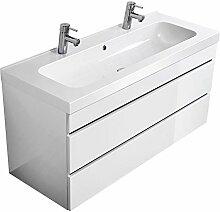 Lomado Doppel - Waschtisch inkl. 120cm Waschbecken