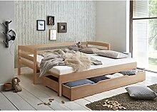 Lomado Funktionsbett ausziehbar mit Bettschublade,