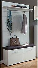 Lomado Garderoben Set in weiß ● 2-teilige