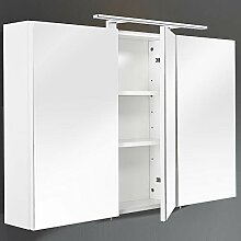 Lomadox Badezimmer 110cm Spiegelschrank weiß &