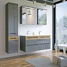 Lomadox Badezimmer Doppel-Waschtisch Set ●