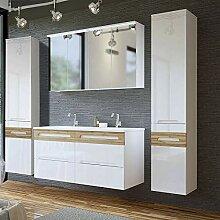 Lomadox Badezimmer Doppel-Waschtisch Set,