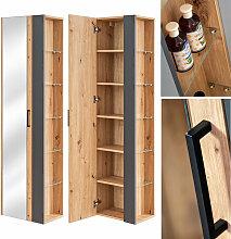 Lomadox - Badezimmer Hochschrank mit Seitenregal