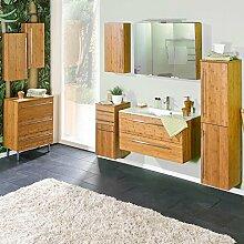 Lomadox Badezimmer Set Bambus, Waschtisch mit