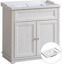 Lomadox Badmöbel Einzel Waschtisch mit