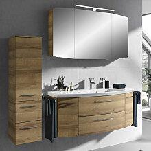 Lomadox - Badmöbel Set mit LED-Spiegelschrank,