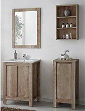 Lomadox Badmöbel Waschtisch Set Komplett ●