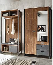 Lomadox Garderobenset im Industrial-Design ●