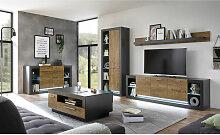 Lomadox - Industrial Style Wohnwand Set mit