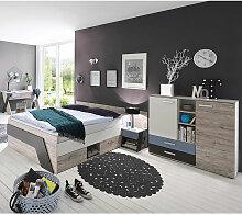 Lomadox - Jugendzimmer mit Bett 140x200 cm und