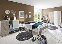 Lomadox Jugendzimmer mit Bett 140x200cm LEEDS-10