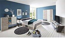 Lomadox Jugendzimmer mit Doppelbett 140x200cm