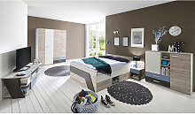 Lomadox - Jugendzimmer Set mit Bett 140x200 cm