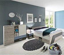 Lomadox - Jugendzimmer Set mit Bett 140x200 cm und