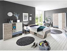 Lomadox - Jugendzimmer Set mit Schreibtisch