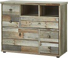 Lomadox - Kommode Vintage Driftwood Braun