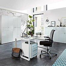 Lomadox Komplett Büromöbel Set in weiß mit
