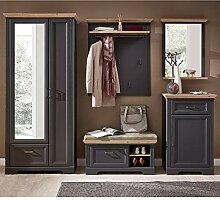 Lomadox Landhaus Komplett Garderoben-Set in
