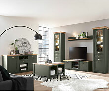 Lomadox - Landhaus Wohnwand Set mit Anrichte &