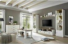 Lomadox - Landhaus-Wohnwand-Set mit Anrichte &