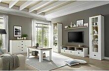 Lomadox - Landhaus Wohnwand Set mit Anrichte