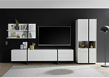Lomadox - Moderne TV Anbauwand mit Beleuchtung