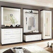 Lomadox Modernes Landhaus Flur-Garderoben Set in