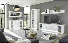 Lomadox - Modernes Wohnwand Set mit Kommode und