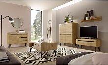 Lomadox - Wohnzimmer Set in Eiche Artisan mit
