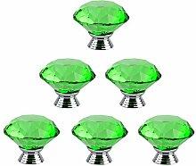 Lommer Möbelknopf Kristall 6 Pcs 4CM Diamant-Form