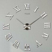 Lommer Wanduhr, 3D DIY Art Uhr Römische Ziffern