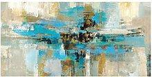 Lomoko Abstrakte Blaue Leinwand Malerei Plakate