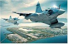 Lomoko Militärflugzeuge Plakate Leinwand Malerei