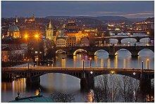 Lomoko Prager Brücken Fluss Moldau Tschechische
