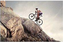 Lomoko Radfahren Extremsport-Plakate Leinwand